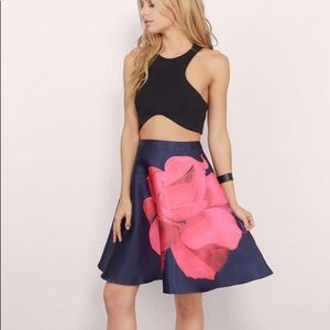 L'atiste Flower Skater Skirt